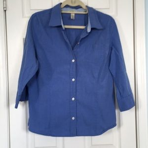 Old Navy collared blue button down top